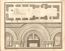 1806  ANTIQUE PRINT - ARCHITECTURE-ARCHES AND CAPITALS OF PILLARS,STEWKLEY CHURC