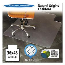 Es Robbins Natural Origins Chair Mat With Lip For Hard Floors 36 x 48 Clear