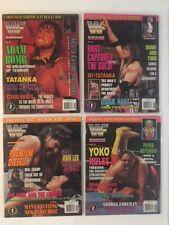 Lot 4 WWF Magazine 1994 May Jun Jul Aug Adam Bomb Bret Hart Diesel Yokozuna WWE