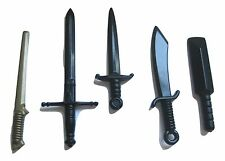 BRICKARMS BLADE Weapon 5 Pack for Lego Minifigures NEW Castle Pirates MOC