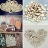 100Pcs DIY Craft Mixed Rustic Wooden Love Heart Wedding Table Scatter Decor
