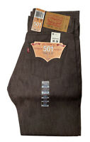 NWT Levi's 501XX Button Fly Rigid Denim Jeans Mens 30 X 30 Brown Shrink to Fit