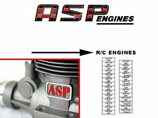 ASP Engine Instructions Sheet  ~ Parts List & Numbers