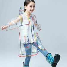 Transparent Raincoat Boy Hooded Outdoor Clear Waterproof Girl Toddler Rain-wear