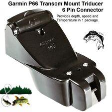 Garmin P66 Transom Mount Triducer 50/200KHZ 6 Pin Connector Depth, Speed & Temp.