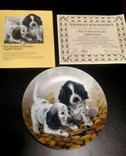 """Edwin Knowles Field Puppies """"Fine Feathered Friends-English Setters"""" Plate"""