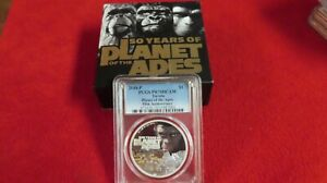 2018 PLANET OF THE APES TUVALU 1 OZ .999 SILVER NGC PF70 FIRST RELEASES COA OGP