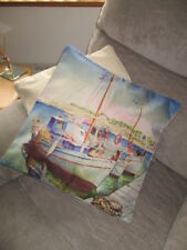 painting print of sailing boats   cushion Cover new