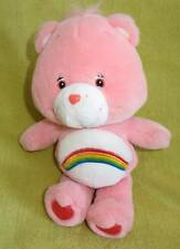 "CARE Bear Stuffed Plush CHEER Rainbow Tummy TOY Soft Clean 11"" Pink"