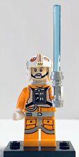 Lego Star Wars Minifigure Luke Skywalker Hoth Rebel Pilot w/ Lightsaber 75014