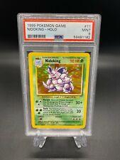 Pokemon Cards 1999 Base Set Unlimited Nidoking Holo 11/102 PSA 9 MINT