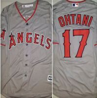 Shohei Ohtani LA Angels Majestic Jersey Gray Mens Medium