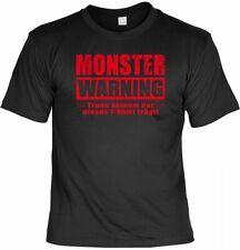 Halloween t-shirt-Monster-warning - aterradora proverbios camisa para Halloween