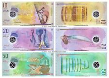 Maldive 10 + 20 + 50 rufiyaa 2015 (2016) polimero Set di 3 banconote 3 PC UNC