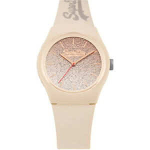 Superdry Girls Urban Ombre Glitter Pink Silicone Watch SYL179C