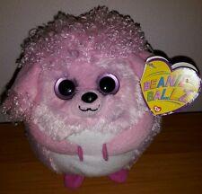 Peluche Plush Pupazzo The Beanie Ballz TY Lovey 12Cm Palla Rosa Pink New Nuovo