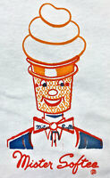 Vintage 80s MISTER SOFTEE Ice Cream Truck T SHIRT Basic Tees Deadstock NOS S M