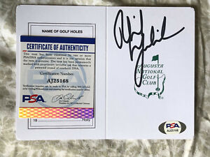 Phil Mickelson SIGNED Augusta National Masters Scorecard PSA/DNA AUTOGRAPHED