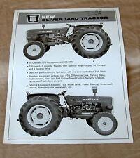 Vintage Oliver Corporation Model 1450 Tractor Advertising Brochure - Ca 1967!