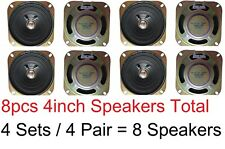 8pc 4 inch 8 ohm Loud Speaker 4in 10 watt max/5w Standard Arcade Pinball Mame