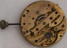 Rare Pocket Watch movement 43 mm. in diameter some parts missing