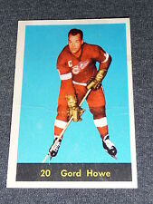 60-61 Parkhurst #20 Gordie Howe * nice card light crease * L@@K
