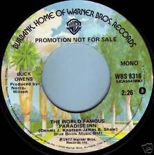 BUCK OWENS World Famous Paradise Inn ((**NEW     45 DJ**)) from 1977