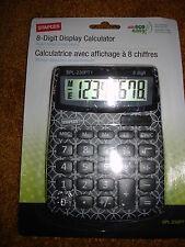 Staples 8 Digital Display Calculator White And Black
