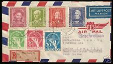 GERMANY 1949, RARE Mixed Postage Cover - R036  Scott B310-13 and  9NB1-3