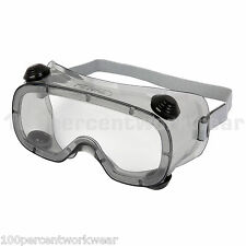 Delta Plus RUIZ1 Clear Safety Goggles Glasses Specs Lightweight Vented PVC New