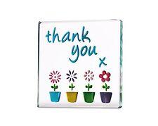 Spaceform Miniature Glass Token Thank You Flower Pots 1782 **New Design**