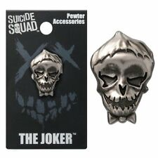 OFFICIAL DC COMICS - SUICIDE SQUAD THE JOKER GREY LAPEL PIN BADGE (NEW)