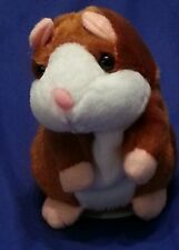 Talking Recordable Plush Hamster Interactive  Toy for Kids Brown