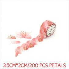 New listing 200Pcs/Roll Masking Petals Sticker Paper Flower Tape Washi Sticky Tape Scrapbook