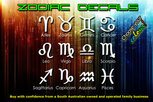 100mm Zodiac Sign Sticker / Decal for Car, Window or Wall