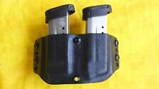 DOUBLE MAG HOLSTER BLACK KYDEX SMITH AND WESSON S&W M&P Shield 9/40 OWB