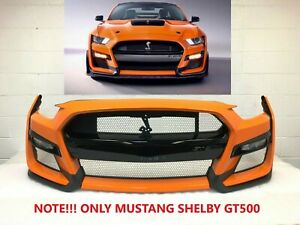 2020-2021 ford mustang shelby GT500 front bumper (twister orange) #2