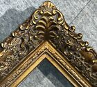 4.75 fine Picture Frame antique Gold Ornate photo museum Oil Painting Wood 256G