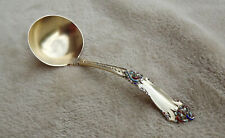 """La Marquise by Reed and Barton 5 1/4"""" Sterling all vermeil enamel ladle"""