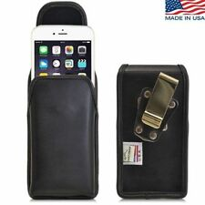 Turtleback iPhone 6 Vertical Leather Pouch Holster Metal Clip Fits Incipio Case