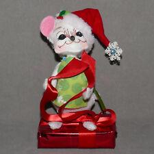 "Christmas Doll Annalee #01 Felt Vintage 2012 Mouse Santa Helper w Package 7"""