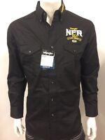 NWT Wrangler NFR Vegas Logo Rodeo Western Embroidered Long Sleeve.(XL) Shirt