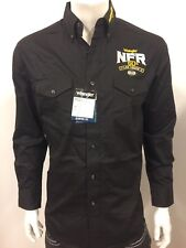 NWT Wrangler NFR Vegas Logo Rodeo Western Embroidered Long Sleeve.(LARGE) Shirt
