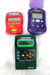 Vintage Mattel Classic Football 2 Radica Handheld Electronic Poker Slots Lot