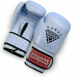 Machina Carbonado 16 Ounce Women's Leather Boxing Gloves - LIGHT BLUE