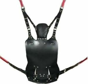 LEATHER SLING SEX HAMMOCK FOR SEX - SWING & SLING ADULT FUN WITH STIRRUPS BDSM
