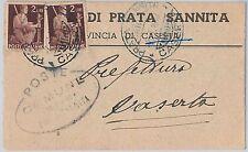 BUSTA COMUNALE d'Epoca - CASERTA provincia : Prata Sannita 1947