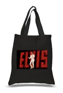 Shopper Tote Bag Cotton Black Cool Icon Stars Elvis Presley Ideal Gift Present