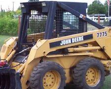 John Deere style 7775 skidsteer skid loader decal kit stickers JD