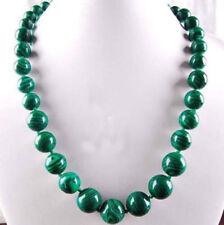 6-14mm Green Gorgouese Malachite Gem Round Beads Necklace 18Inch JN891